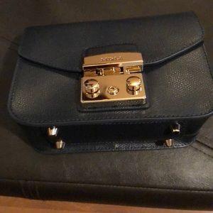 Furla navy blue crossbody small purse